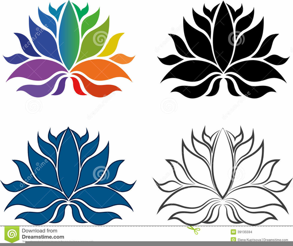 Lotus Flower Outline Clipart Free Free Images At Clkercom