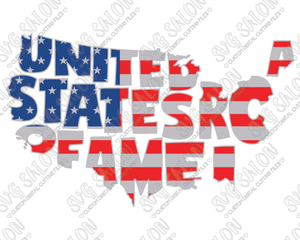 United States America Flag Clipart Image