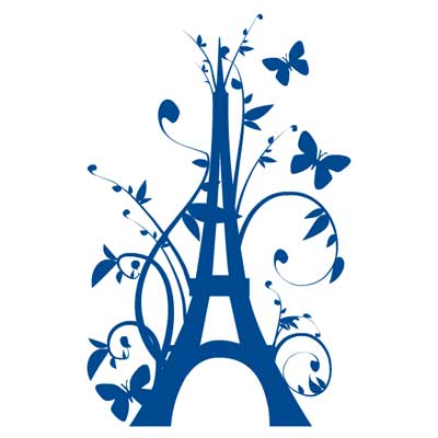sticker geant tour eiffel fleurie free images at vector clip art online royalty. Black Bedroom Furniture Sets. Home Design Ideas