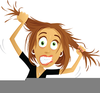 Woman Pulling Hair Out Clipart Image