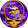 Grateful Dead Logo Purple Camo Yellow Skull Image
