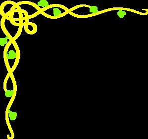 Yellow Vine Border Clip Art at Clker.com - vector clip art online ...