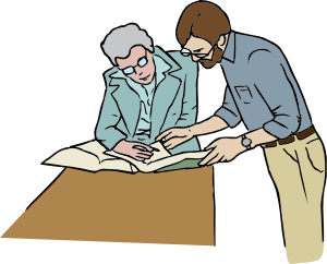 Reference Desk Clip Art