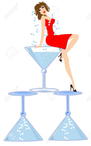 girl in martini glass clipart free images at clker com vector rh clker com Martini Glass Clip Art Black and White Martini Glass Clip Art Picture for Invitations Party