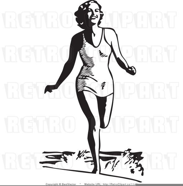 Vintage Beach Clipart Free Free Images At Clker Com