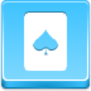Free Blue Button Icons Spades Card Image