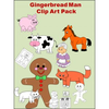 Gingerbread Man Story Clipart Image