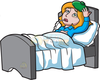 Clipart Sick Woman Image
