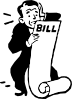 Worried About A Bill Clip Art