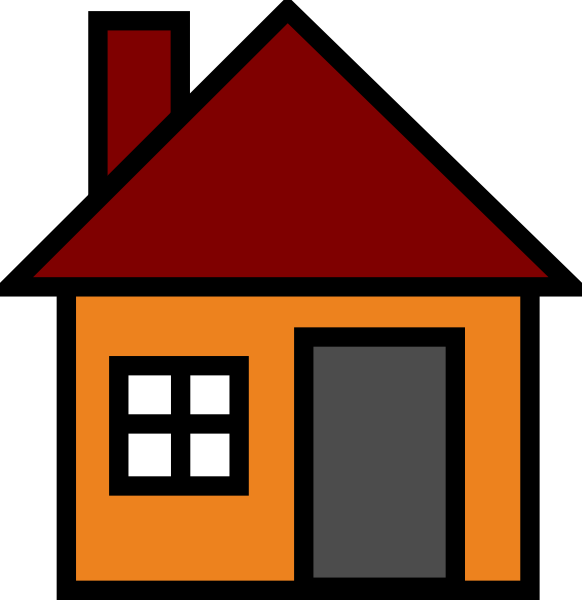 Orange house clip art at vector clip art for Picture of house