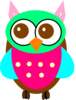 Colorful Baby Owl Chick Clip Art