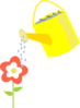 Flower Being Watered Clip Art