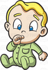 Baby Boy Items Clipart Image