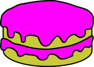 Pink Cake No Candles Clip Art