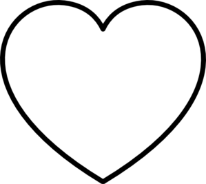 White Heart With Black Outline Clip Art at Clker.com - vector clip art ...