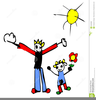 Father Daughter Dancing Clipart Image