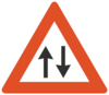 Two Way Traffic Ahead Clip Art