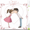 Couple On Date Clipart Image
