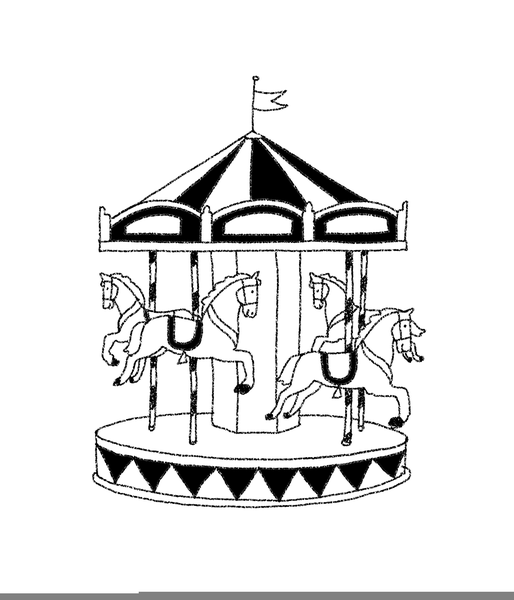 easy carousel drawing