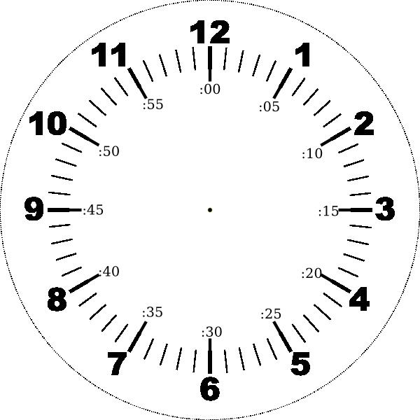 Clock Face Clip Art at Clker.com - vector clip art online ...