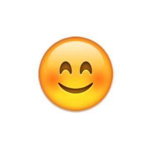 Blushing smiling emoji