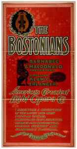 The Bostonians America S Greatest Light Opera Co. Image
