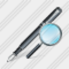 Icon Feather Pen Search2 Image