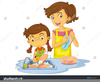 Person Washing Car Clipart Image