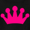 Kids Girls Black Tee With Pink Crown Design Image