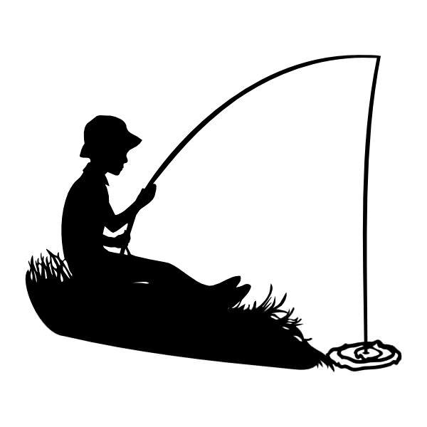 Boy fishing holding fish cartoon Clipart   k48718491   Fotosearch