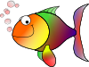 Bubbling Cartoon Fish Clip Art