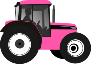 Tractor-pink Clip Art