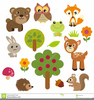Cute Animal Cliparts Image