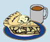 Apple Pie And Coffee Clip Art