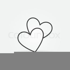 Two Hearts Clipart Image