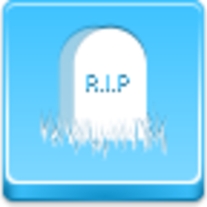 Free Blue Button Icons Grave Image