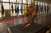The Bronze Statue, Depicting The Bond Between Navy Hospital Corpsmen And U.s. Marines, Stands In The Main Lobby At The National Naval Medical Center In Bethesda, Maryland. Image