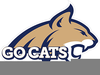 Montana State Bobcat Clipart Image