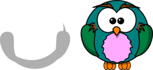 Colorful Cartoon Owl Clip Art