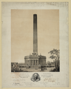 Design Of The Washington National Monument To Be Erected In The City Of Washington  / Design By Robt. Mills Archt. ; Lithd. By Chas. Fenderich, Wash. Image