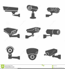 Security Camera Stencil Image