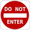Do Not Enter Sign Clip Art
