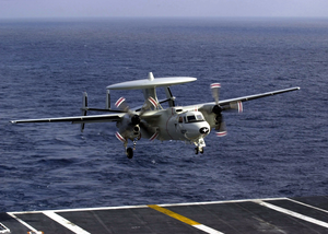 E-2c Makes Arrested Landing Image