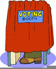Clipart Voting Booth Image