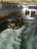 Aav Assault Vehicles Enter The Uss Fort Mchenry Well Deck Image