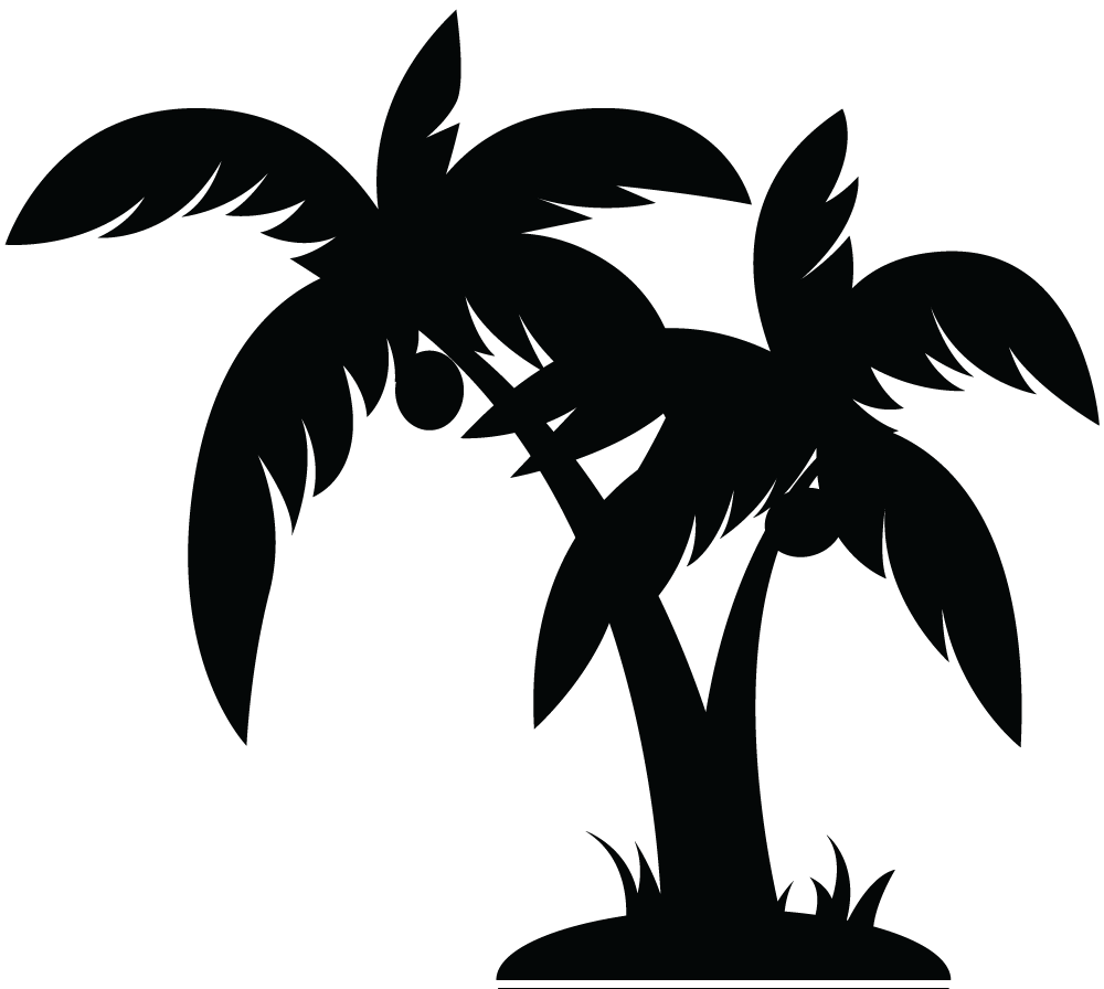 Palm Tree Black