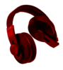 Red Headphones Image