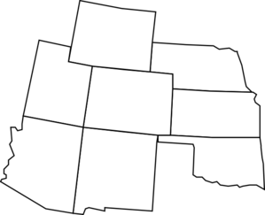Colorado Map With Surrounding States2 Clip Art at Clker.