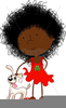 Black Curly Hair Clipart Image