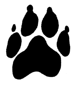 free clipart puppy paw prints free images at clker com vector